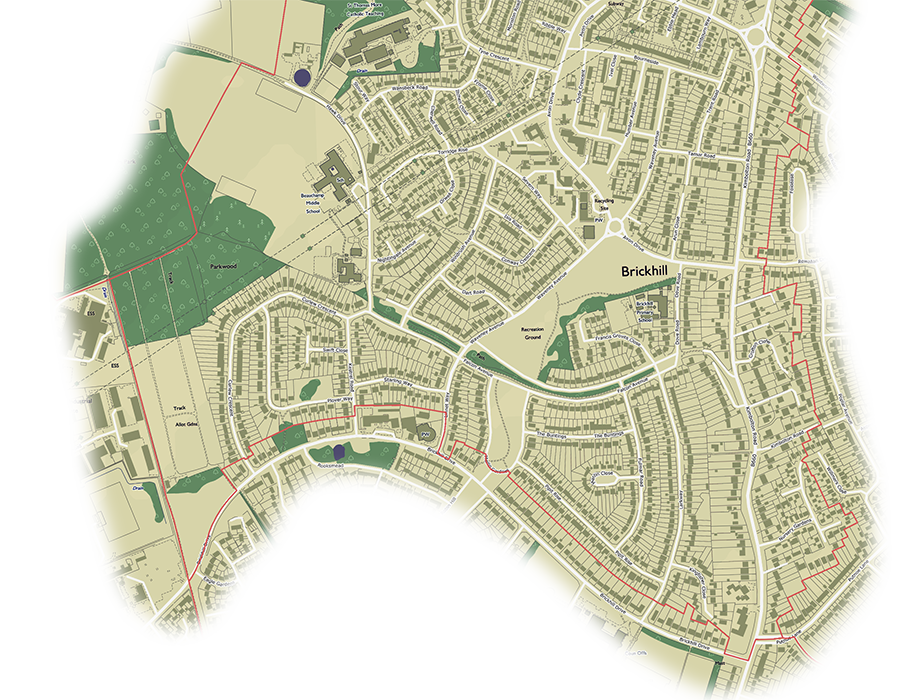 A decorative image showing the suggested change to brickhills southern ward