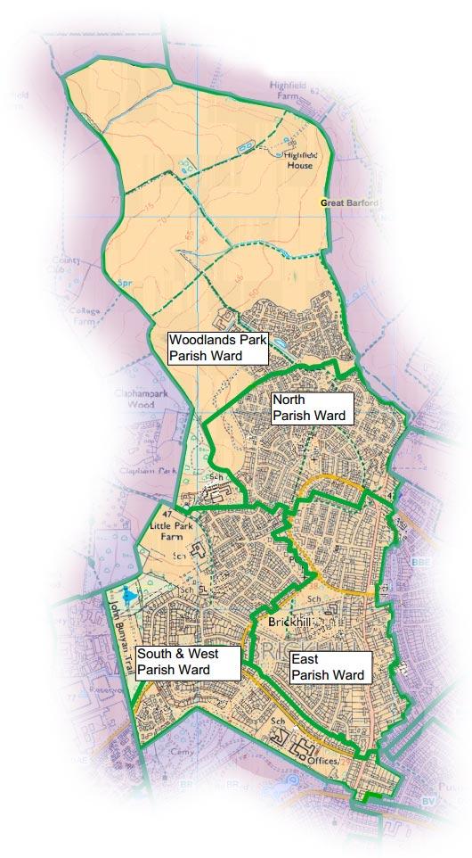Brickhill Parish Map
